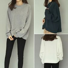 Womens Batwing Pullover Jumper Sweater Loose Cape Cardigan Knitted Sweatshirts