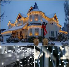 240 LED Snowing Icicle Lights Indoor Outdoor Xmas Christmas Decoration House