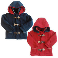 New Baby Boy/Girl Cute Pony Applique Fleece Duffle Coat/Hood by Zip Zap 3-12 mts