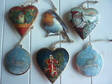Vintage Style Metal Victorian Christmas Tree Decorations Retro Traditional