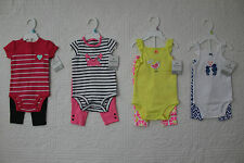 NEW CARTERS GIRLS 2 PIECE OUTFIT SET BODYSUIT PANTS VARIOUS STYLES & SIZES