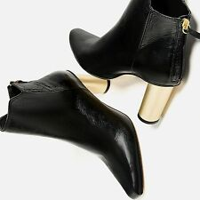 ZARA WOMAN FW 2017  LAMINATED LEATHER HIGH HEEL ANKLE BOOTS 35-42 REF:6145/101
