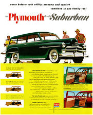 1950 Plymouth - All Metal - Suburban - Promotional Advertising Poster