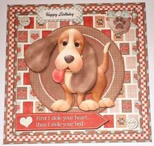 Handmade Greeting Card 3D All Occasion With A Dog