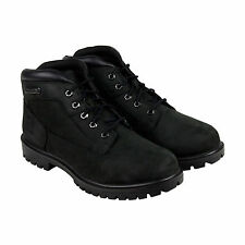 Timberland Newmarket Camp Mens Black Leather Lace Up Boots Shoes