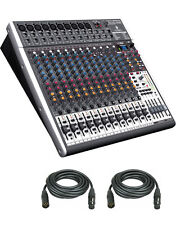 Behringer XENYX X2442USB 16-Channel USB Audio Mixer w/ Effects & 2-XLR Cables