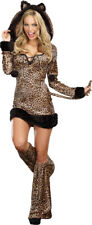 Cheetah Luscious Sexy Cat Adult Womens Fancy Dress Halloween Costume,