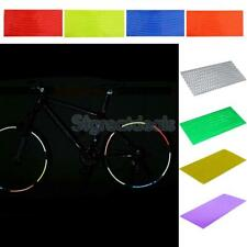 8 Sheets Bike Bicycle Wheel Reflective Stickers Rim Stripe Tape Decals