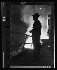Photo: Steel Worker,Mill,Smelter,Chicago,Illinois,IL,1949
