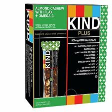 KIND PLUS, Almond Cashew+Omega-3-Standard Packaging, Retail (Pack of 12) XCL