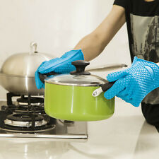 Kitchen Heat Resistant Baking BBQ Cooking Mitts Oven Pot Holder Silicone Glove