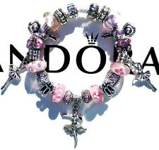 Authentic PANDORA 925 Sterling Silver Bracelet THE DANCER w/Murano Beads AA7