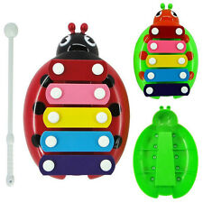 1Set New 5-Note Xylophone Musical Beetle Toy Child Kids Wisdom Developmental Toy