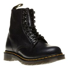 New Womens Dr. Martens Black 1460 Pm Leather Boots Ankle Lace Up Zip