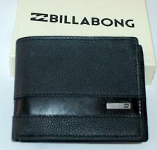 billabong WALLET MENS NEW HIGHWAY BLACK  100% REAL LEATHER SURF LOGO Dual 2 in 1