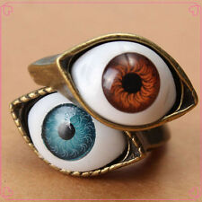 Classic Vintage Evil Eye Finger Ring Eyeball Punk Goth Jewellery For All Ages