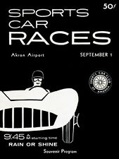 1957 SCCA Sports Car Races - Akron Airport - Promotional Advertising Poster