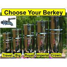 Berkey Water Filter System w/ Stainless Spigot - Crown Imperial Royal Big Travel
