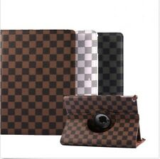 360 Rotating Grid PU Leather Smart Stand Case Cover For iPad Mini 1234 Air12 Pro