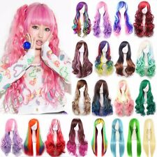 21 Colors Long 80CM Straight Cosplay Party Stylish Women Anime Hair Full Wig #YQ