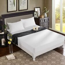 Bamboo Rayon Viscose Jersey Mattress Protector with Queen Pillow Protectors
