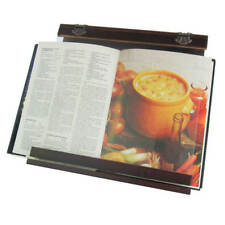 Wooden Cookbook Stand - Acrylic Splatter Guard -4 viewing angles