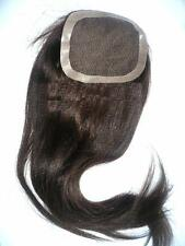 Full Lace Closure Silky Yaki Textured 100% Human Indian Remy Hair Partial Wig