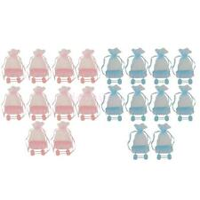 10pcs Cute Baby Stroller Cart Shower Christening Candy Bag Favor Gift Boxes