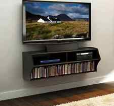 Wall Mounted Audio Video TV Stand Entertainment Media Unit Holds 80 DVD's New