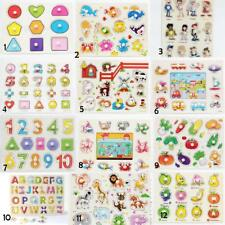Wooden Animal/Numbers/Letters Shaped Peg Puzzles Baby Preschool Kids Toy Gift