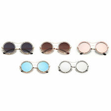 Trendy Novelty Unisex Metal Round Frame UV400 Sunglasses Trendy Eyewear F5