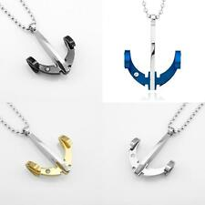 Bow & Arrow Stainless Steel Archery Pendant Necklace Charm Jewelry Gift Unisex