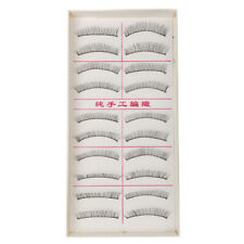 New 10 Pairs Makeup Handmade Soft Fashion Long False Eyelashes Eye Lashes