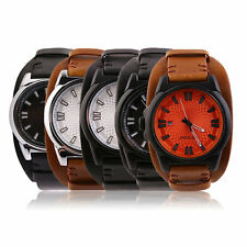 SINIBI Military Sport Style Mens Durable Leather Strap Wrist Watch 9563 F5