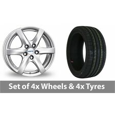 "4 x 14"" Alutec Blizzard Silver Alloy Wheel Rims and Tyres -  175/65/14"