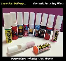 10 - 40 x PERSONALISED CANDY WHISTLE SWEETS BIRTHDAY PARTY BAG FILLER Swizzel e