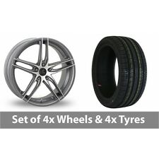 """4 x 16"""" AC Wheels Shot Grey Polished Alloy Wheel Rims and Tyres -  195/55/16"""