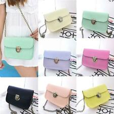 Ladies Girls Chain Messenger Crossbody Bags PU Fashion Shoulder Satchel Handbag