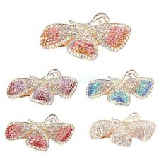 Full Colorful Rhinestone Butterfly Hair Barrette Hair claw Clamp Accessory