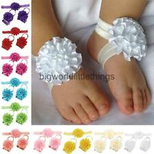 Wholesale 3Pcs Baby Infant Headband Foot Flower Elastic Hair Band Accessories