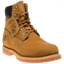 New Womens Timberland Tan 6` Premium Nubuck Boots Ankle Lace Up