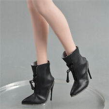 """New 1/6 scale female Low-heel boots black for verycool phicen HT 12"""" in stock"""