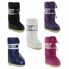 Tecnica Moon Boots Nylon Womens Black White Pink Purple Winter Snow Ski Boots