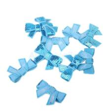 10pcs Lovely New Glitter Bow Sequins Appliques Sewing Decoration for DIY Craft