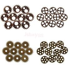 lot 10PCs Steampunk Cyber Jewelry Cogs Gears Wheels Watch Parts Craft Art Charms