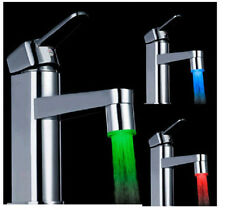 RGB/1/3 Color Temperature Sensor Water Tap Faucet Shower Colorful LED Light US