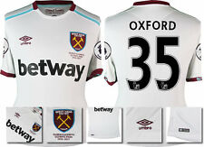 *16 / 17 - UMBRO ; WEST HAM UTD AWAY SHIRT SS + PATCHES / OXFORD 35 = SIZE*