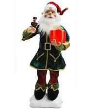 """NEW 24"""" Animated Moving Elf  Christmas Figure with Nutcracker Present 90013001"""