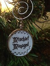 Harry Potter Saying doublesided Silver Ornament Mischief Managed White 1W