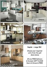 Super Walnut Shaker Kitchen Units + other styles FREE worktop taps sink LQQK!!